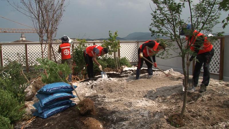 극한 직업 - 옥상 정원 시공