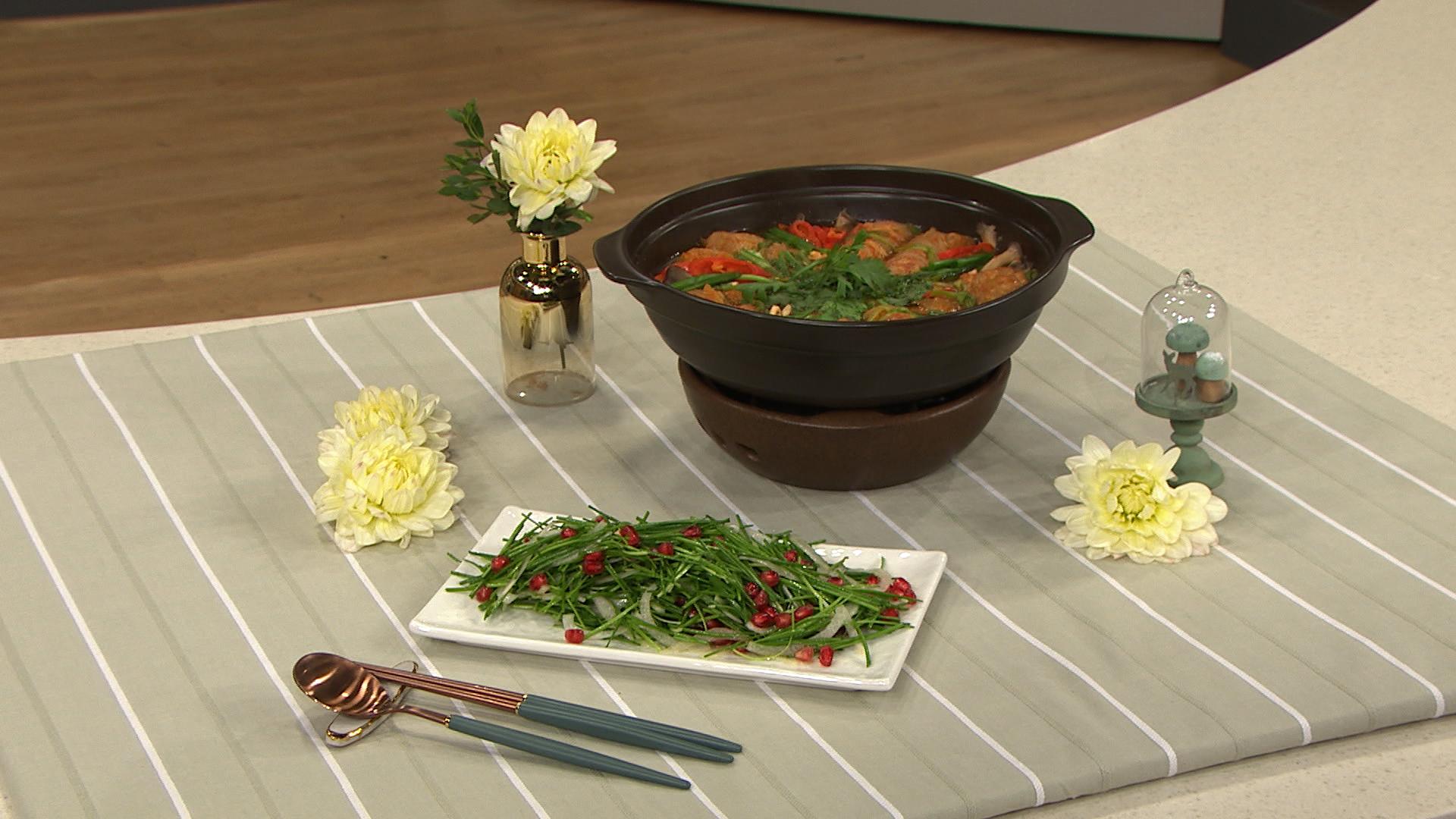 최고의 요리비결 - 최진흔의 김치떡말이전골과 부추양파무침